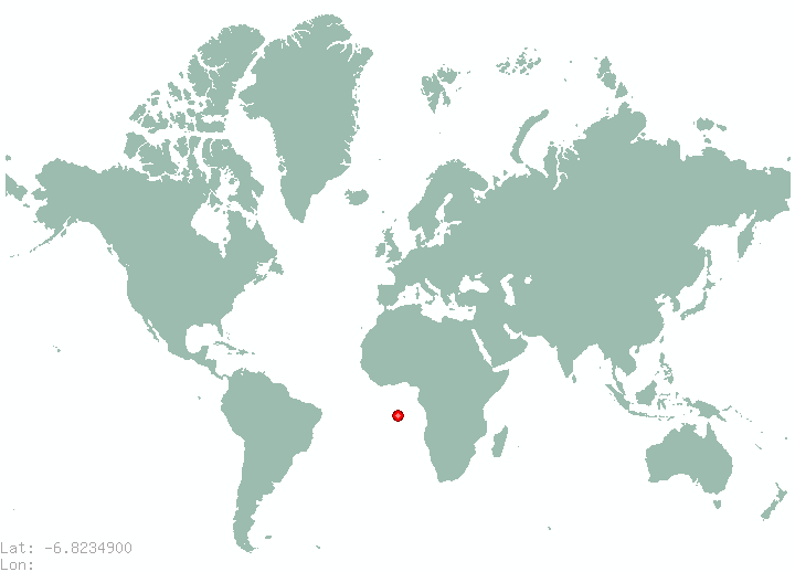 Dar es Salaam in world map